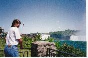 Volodya at the Niagara Falls
